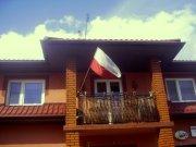 Dzień Flagi 2015 w Zdunach - budynek prywatny.